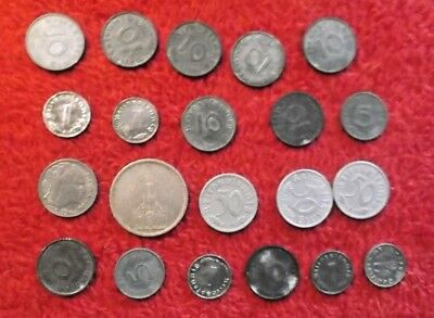 WWII German! Coins, Currency, and Stamps!   Vets Estate Items!