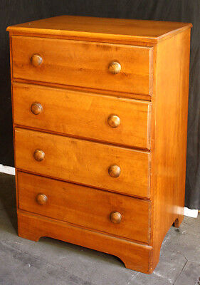 Vintage Antique Solid Wood Wooden Dresser Bachelors Childs Kids Chest 4 Drawers