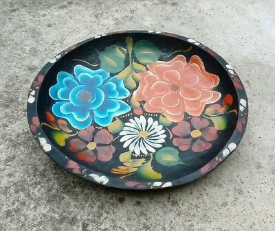 Hand Carved And Painted Barge / Romany Art Wooden Fruit Bowl