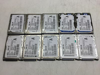 """Lot of 10 320GB 320 GB 2.5"""" SATA Mixed Brand Laptop Hard Drives HDD's -TESTED-"""