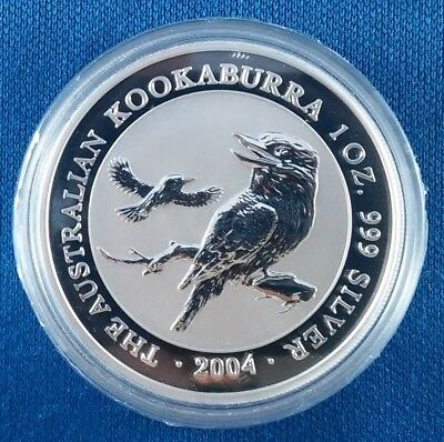 2004 Australia Kookaburra 1 Ounce .999 Silver Coin from Sealed Roll