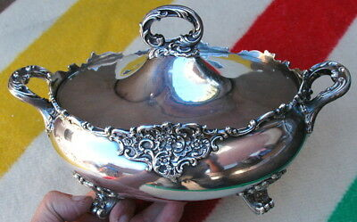 "Vintage Bailey Bank and Biddle 7266 Sterling Silver 8"" Soup Tureen c.1936 1128gr"