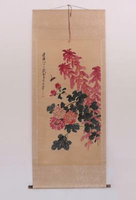 Fine Chinese Hand Painted Painting Scroll Qi Baishi (393)