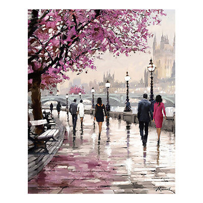 Cherry Blossom Tree Picture Wall Art Canvas Oil Painting Home Bedroom Decor US
