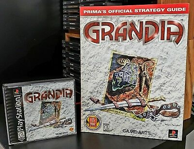 Grandia (Sony PlayStation 1, 1999) CIB NM+ & Official Strategy Guide! PS1