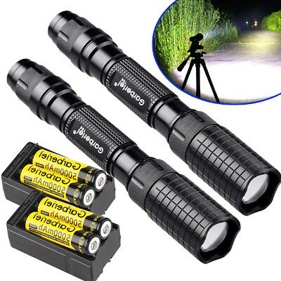 Tactical 90000Lumens T6 LED 5 Mode Super Bright Zoomable Flashlight Torch Light