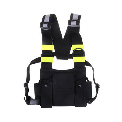 Nylon two way radio pouch chest pack talkie bag carrying case for uv-5r 5ra UK