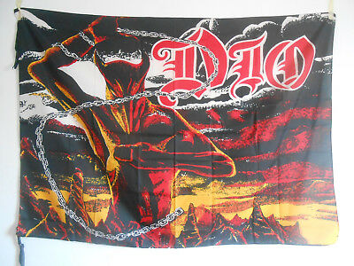 DIO FLAG-bandera/heavy metal/trash/fan club/black sabbath/rainbow/elf/ULTRA RARE
