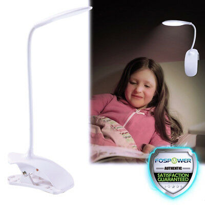 LED Clip Desk Lamp Dimmable Table Light Eye Care 3 Mode for Study Reading USB