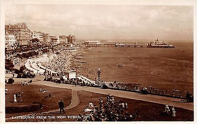 United Kingdom England real photo postcard Eastbourne from Wish Tower