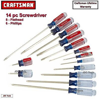 Craftsman 17 pc Screwdriver Set Phillips Slotted USA MADE  31794