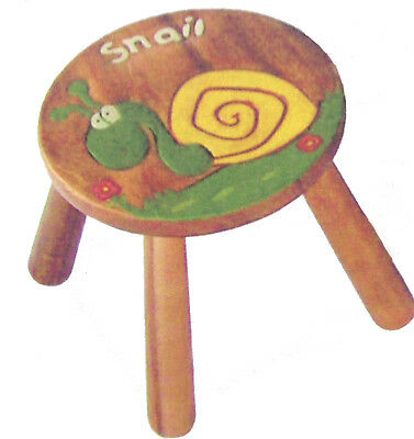 NEW Tano Snail Carved Acacia Wood Child's Play Stool Wooden Kid's Christmas Gift