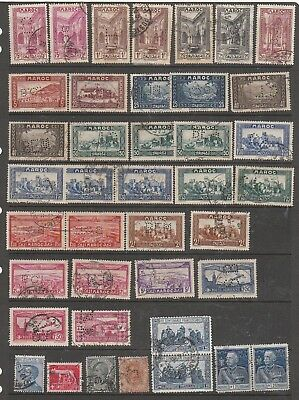 Morocco  & World Used Perfins  1930 Onwards 2 Pages  4 Scans