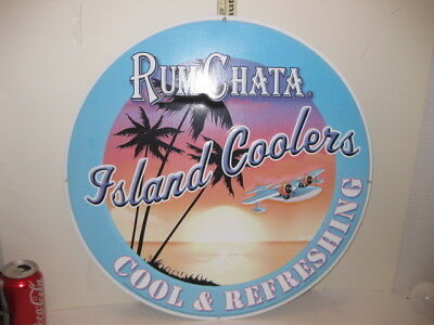 RUM CHATA  Rum Island Coolers Metal 20 inch Round Sign