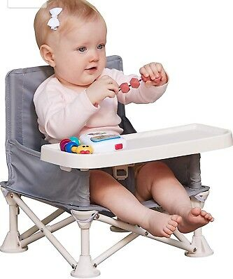 Travel Booster Seat with Tray for Baby   Folding Portable High Chair
