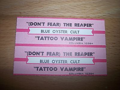 "2 Blue Oyster Cult Don't Fear The Reaper Jukebox Title Strips 7"" 45RPM Records"