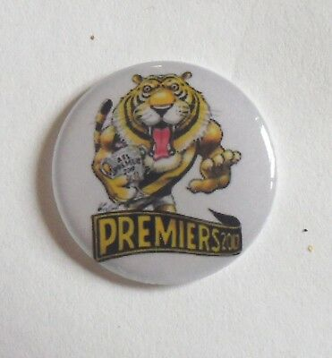 2 only RICHMOND TIGERS 2017 Premiers GOLF BALL MARKERS 25 mm