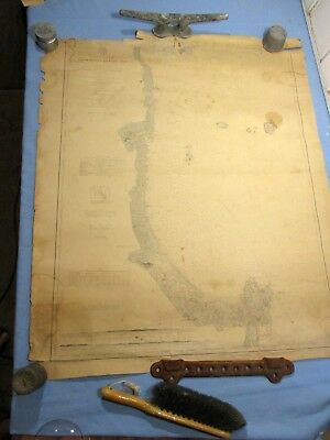 "1887 Nautical Coast Survey - Wells, ME to Cape Ann, MA - 39 1/2"" x 34"""
