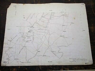"""1883 Hand Drawn Map, Col. Allan's """"Campaign's of Stonewall Jackson"""" - 28"""" x 21"""""""