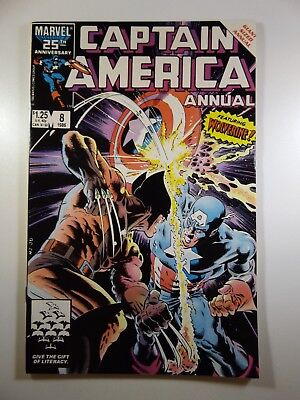 Captain America Annual #8 Guest Starring Wolverine! Great Mike Zeck Art!! VF!!!
