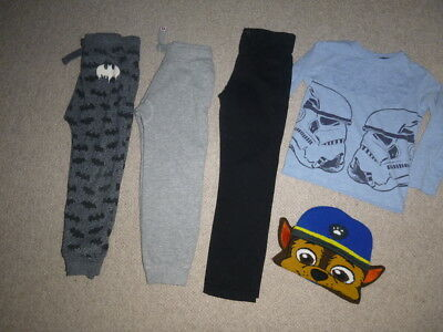 Boys NEXT Clothes Bundle inc Joggers, Paw Patrol, Star Wars age 4 years