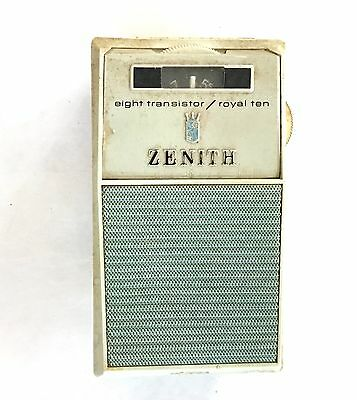 Vintage Zenith Eight Transistor Radio Royal 10 Working Order Great Condition