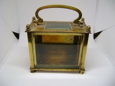 Antique Brass Oblong Carriage Clock Case With Front Surround And Glass