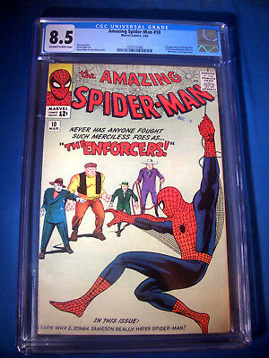 1964 * Amazing SPIDER-MAN #10 * Marvel Comics CGC 8.5 VF+ * Rare WHITE Pages !!!