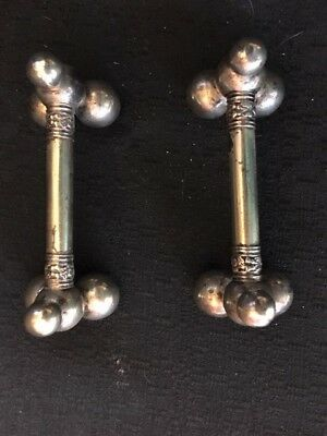 Pair of Large Chunky Victorian Nouveau Silver-Plate Knif Rests