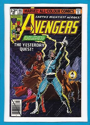 Avengers #185_July 1979_Vf+_Hawkeye_Quicksilver_Scarlet Witch_Bronze Age Uk!