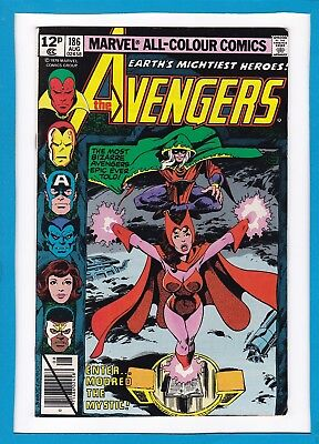 Avengers #186_August 1979_Vf_Quicksilver_Scarlet Witch_Bronze Age Marvel_Uk!