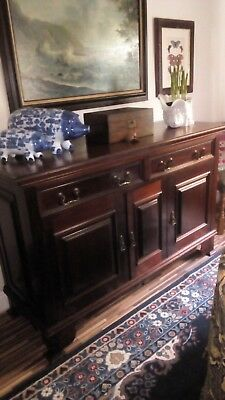 Victorian sideboard, very solid mahogany style dresser with hidden drawers.