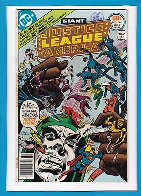 Justice League Of America #144_July 1977_Very Fine_Superman_Bronze Dc Giant!