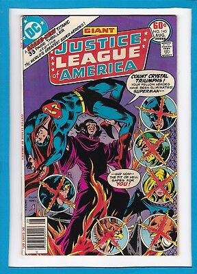 Justice League Of America #145_August 1977_Very Fine_Superman_Bronze Dc Giant!