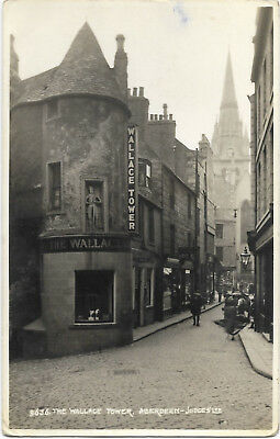 Scotland Aberdeen The Wallace Tower Real Photo Vintage Postcard