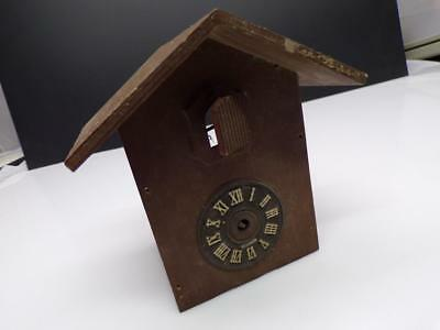 "Cuckoo Clock Co ""455"" Brass  Movement in Black Forest Case w/ bird  E1004"
