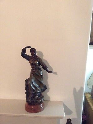 19th  Century Spelter  Figure of a Lady
