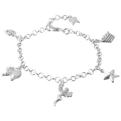 TALES FROM THE EARTH - NEW - Baby Christening Silver 925 Charm Bracelet