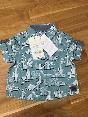 Monsoon Baby Boys Cactus Holiday Shirt New BNWT 3-6 Months