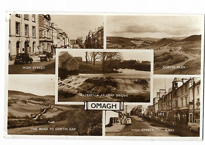 Ireland Multiview of Omagh Real Photo Vintage Postcard