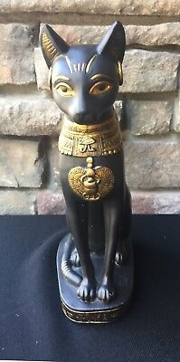 "Ancient Egyptian Black Cat ""BASTET"" Statue Figurine SUMMIT COLLECTION"
