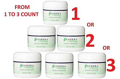 SOMBRA WARM THERAPY PAIN RELIEVING 8 OZ Gel From 1 to 3 JARS FREE FAST SHIPPING