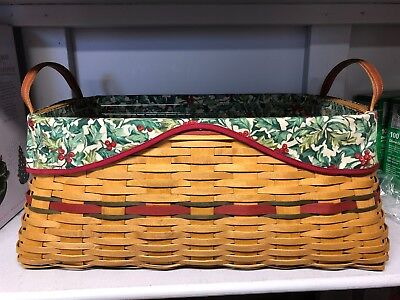 Longaberger – Holiday Hostess 2002 Treasures Large Basket (Red Accent)