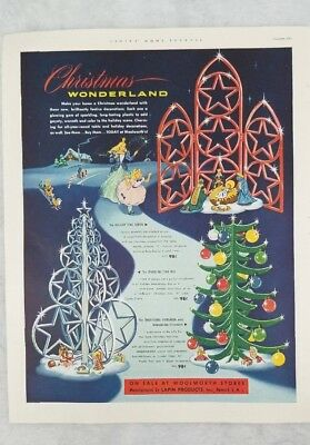 1951 Lapin Products Christmas Wonderland at Woolworth Stores Ad Ornaments