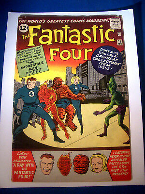 1963 * FANTASTIC FOUR #11 * Marvel Comics * est 5.0 VG/FN * Rare Off WHITE Pages