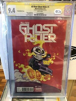 All New Ghost Rider #1 CGC SS 9.4 Skottie Young Variant Signed