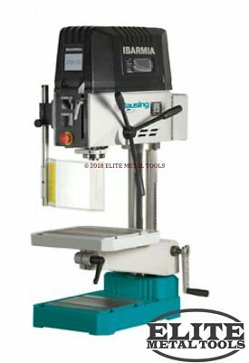 "NEW Clausing 19.7"" Drill Press with Step Pulley Manual Feed KS18"