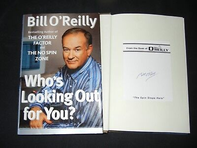 """BILL O'REILLY Signed Autograph """"WHO'S LOOKING OUT FOR YOU?"""" Book TV Show News"""