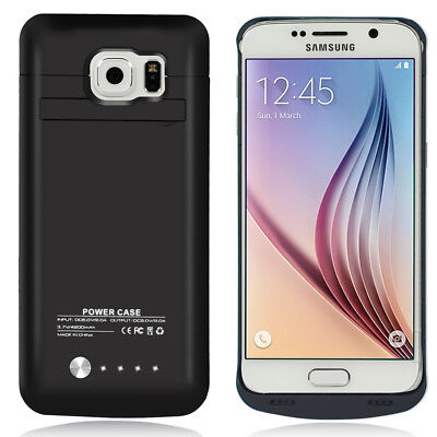 For Samsung Galaxy S6 Extended Rechargeable Charger Battery Case Cover 4200mAh