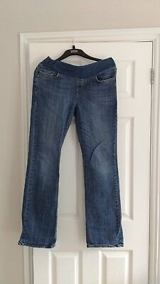 Seraphine blue bootcut maternity jeans size 10 to 12 under bump